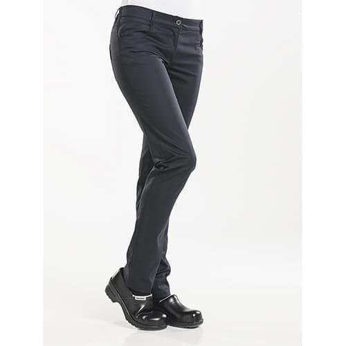 Chaud Devant Dames Skinny Stretch koksbroek - zwart