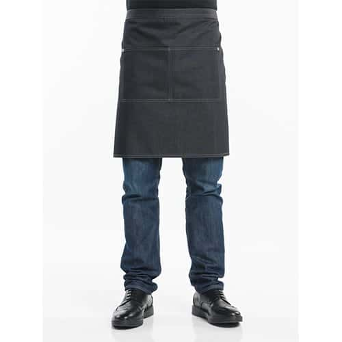 Chaud Devant Apron Denim B90-L50 sloof - zwart