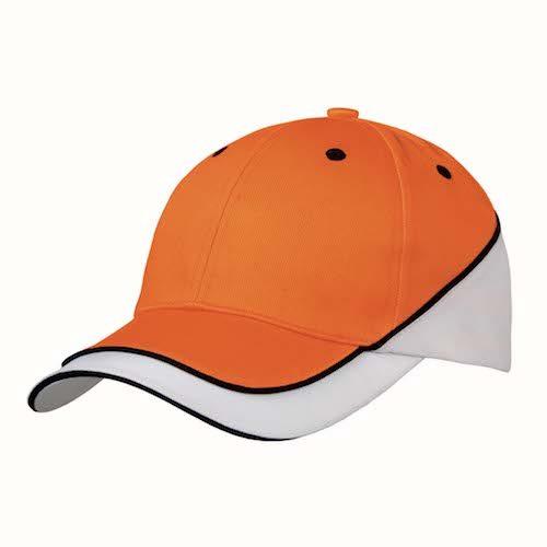 Kingcap_luxury_sport_pet_oranje_Wit
