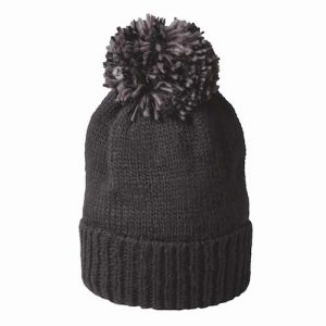 Kingcap_heavy_knitted_pumpkin_hoed_zwart