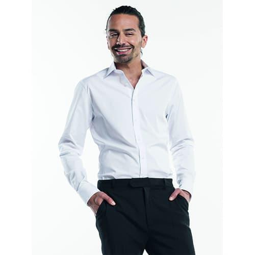 Chaud Devant Heren Stretch overhemd - wit