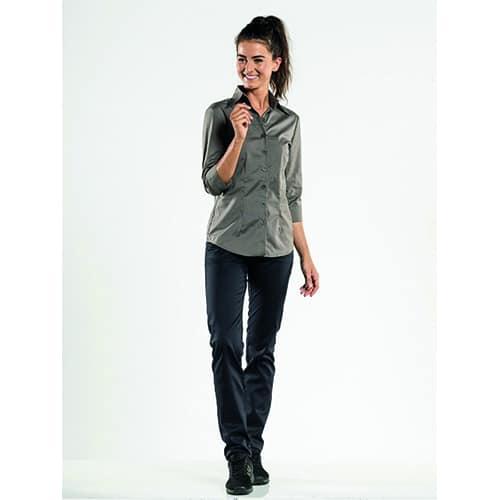 Chaud Devant Dames Stretch 3/4 blouse - grijs