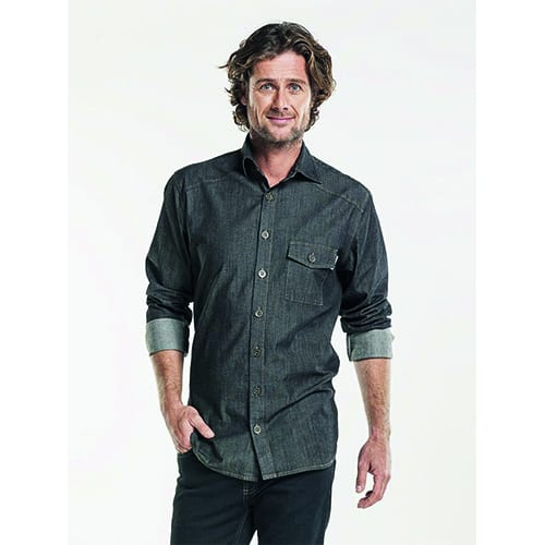 Chaud Devant Heren Stretch overhemd - antraciet