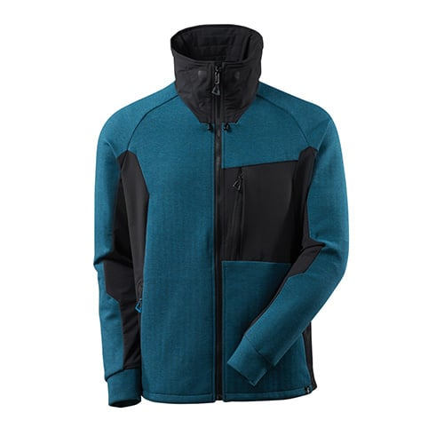 Mascot Advanced sweater met rits - blauw
