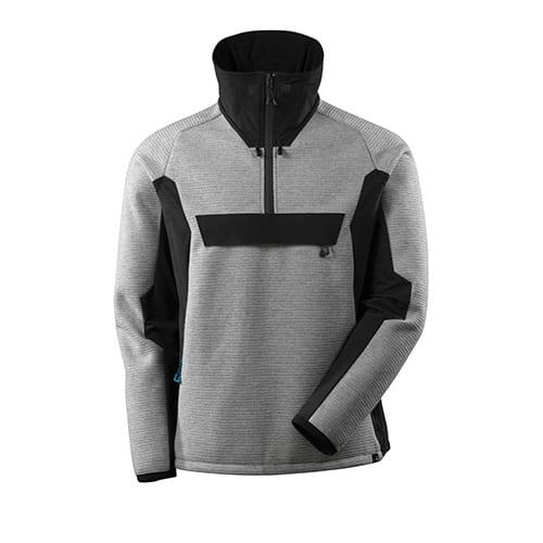 Mascot Advanced softshell jas met korte rits - grijs/zwart
