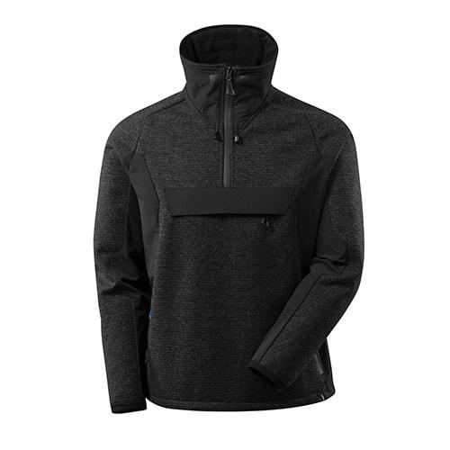Mascot Advanced softshell jas met korte rits - zwart