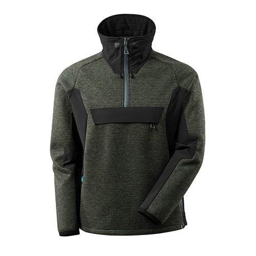 Mascot Advanced softshell jas met korte rits - groen/zwart