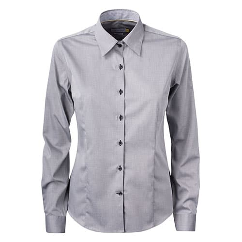 J. Harvest & Frost Yellow Bow dames blouse - grijs/zwart