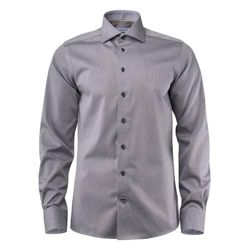J. Harvest & Frost Yellow Bow Regular Fit overhemd - grijs/zwart