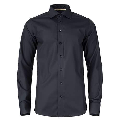 J. Harvest & Frost Yellow Bow Long Sleeve Slim Fit overhemd - zwart