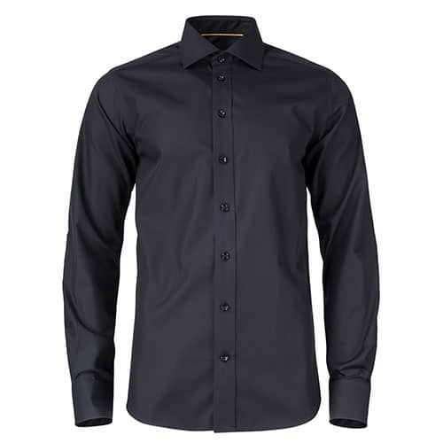 J. Harvest & Frost Yellow Bow Long Sleeve Regular Fit overhemd - zwart