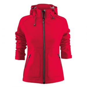 Printer_Karting_Softshell_Jas_Dames_Rood