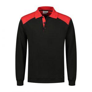 Santino_Tesla_Polosweater_Roodzwart