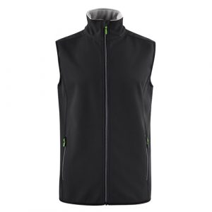 Printer_trial_softshell_bodywarmer_zwart