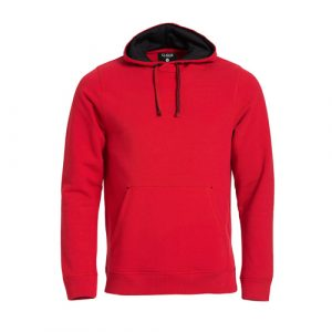 Clique_Classic_Hoody_Rood