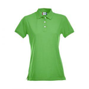 Clique_Stretch_Premium_polo_dames_groen