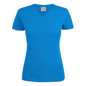 Printer_heavy_vneck_dames_blauw