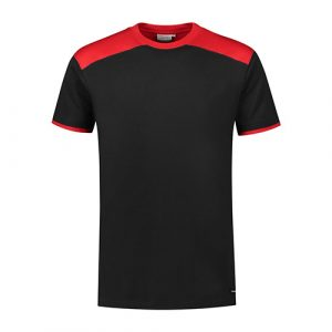 Santino_Tiesto_T-shirt_Zwart_Rood