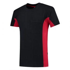 Tricorp_102002_bicolor_shirt_borstzak_donkerblauw_rood