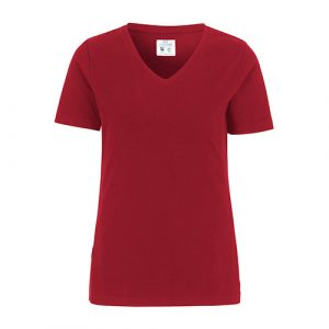 Cottover_duurzaam_duurzaamheid_werkkleding_promotioneel_tshirt_stretch_dames_rood