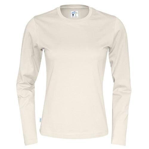 Cottover_duurzaam_duurzaamheid_werkkleding_promotioneel_tshirt_lange_mouw_dames_ecru
