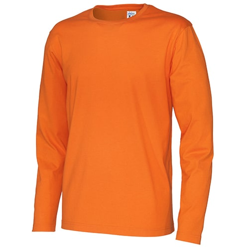 Cottover_duurzaam_duurzaamheid_werkkleding_promotioneel_tshirt_lange_mouw_heren_oranje