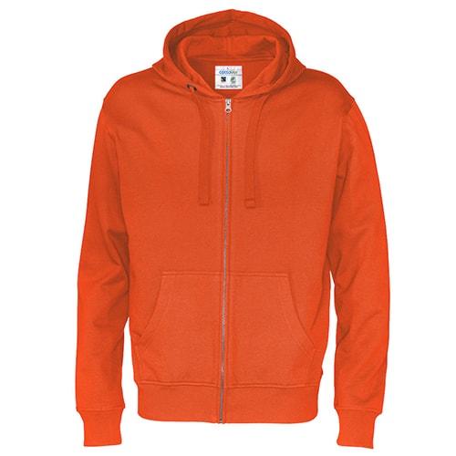 Cottover_duurzaam_duurzaamheid_werkkleding_promotioneel_trui_hoody_fullzip_heren_oranje
