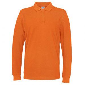 Cottover_duurzaam_duurzaamheid_werkkleding_promotioneel_polo_pique_lange_mouw_heren_oranje