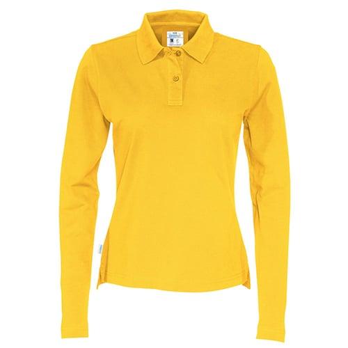 Cottover_duurzaam_duurzaamheid_werkkleding_promotioneel_polo_pique_lange_mouw_dames_geel